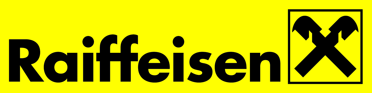 Raiffeisen giebelkreuz gelb